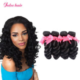 Julee Hair Brazilian Loose Wave Human Virgin Hair 4 Bundles/Lot
