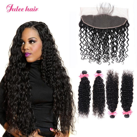 Cheap And Quality Brazilian Natural Wave Hair 4 Bundles With 13*4 Full Lace Frontal