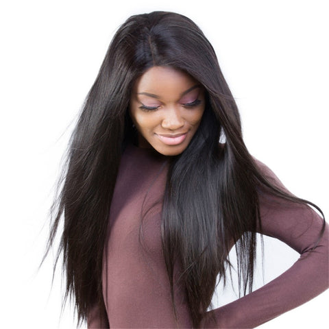 Julee Hair Full Lace Wig 150% Density Straight Human Hair Wigs Pre Plucked Virgin Hair