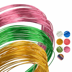 50pcs/lot Stocking Flower Wire #22 Commonly Used Iron Wire For  DIY Nylon Flower Floral Wire Ronde Flower Material Accessory