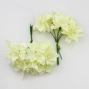 6pieces 5cm Artificial orchid Flowers Bouquet,silk lily flower For Wedding Wreath Scrapbooking Decoration