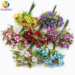 10pcs Mini Berry Stamen Artificial Decoration