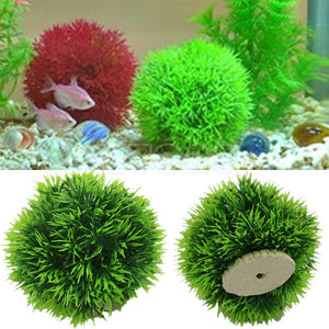 Artificial Aquatic Plastic Plants Aquarium Grass Ball Fish Tank Ornament Decor Free shipping-Y102