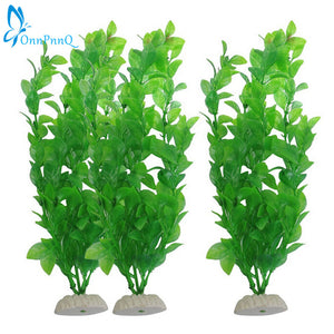 Green Artificial Plastic Water Plant Grass for Fish Tank Aquarium Decor