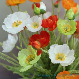 Beautiful Artificial Poppy Silk Flowers