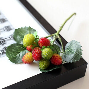 free shipping 9 fruit decoration flower artificial  fruit paddle strawberry photo props Artificial plant decoration basket vase