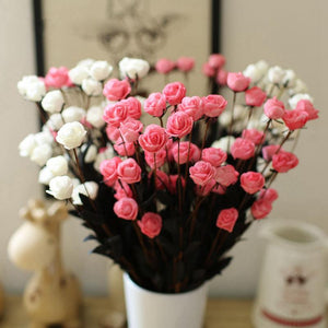 1 Bouquet with 15 Artificial Rose Heads