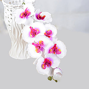Fashion Orchid Artificial Flowers DIY Artificial Butterfly Orchid Silk Flower Bouquet Phalaenopsis Wedding Home Decoration