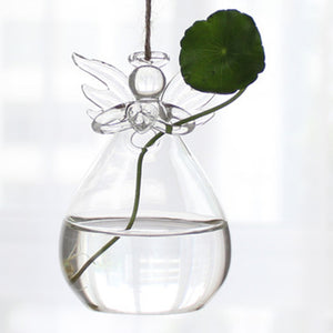 Hanging Glass Vase DIY Planting Hydroponic Plant Flower Container Home Garden Terrarium Home Wedding Desk Decor Bulb Shape