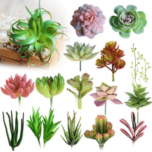 Artificial Succulent Plants Lotus Landscape Mini Green