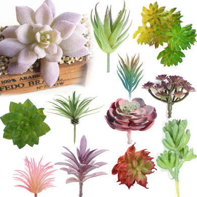 Artificial Succulent Real Touch Landscape Lotus Plants Grass Decorative Artificial Plant Garden Arrangement Christmas Decor Home
