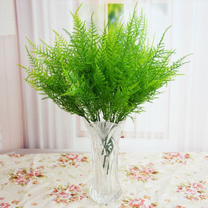 1PC Mini Flowers Green Artificial Plant Persian Grass Plastic Leaves Grass artificial Grass in Pot Home Decoration Fake Wreath