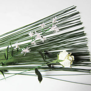 50Pcs/Lot 26# 0.45mm/0.0177Inch 60CM High Quality Paper Covered Artificial Branches Twigs Iron Wire For DIY/nylon Flower Accesso