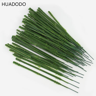 HUAODO 50pcs 13.5cm short stem flowers arrangement artificial flower head accessory Branches Florist Crafts for wedding decor