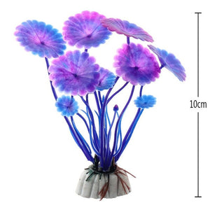 Best Price Artificial Aquarium Plant Decoration Fish Tank Submersible Flower Grass Ornament 10 Styles Optional 10-30cm