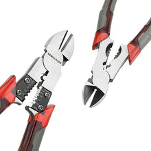 NEWACALOX 8'' Professional Tools Multifunction Wire Pliers Set Stripper Crimper Cutter needle nose Nipper Jewelry Tools Diagonal