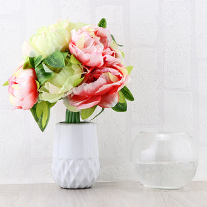 10-Head Artificial Peony Flower