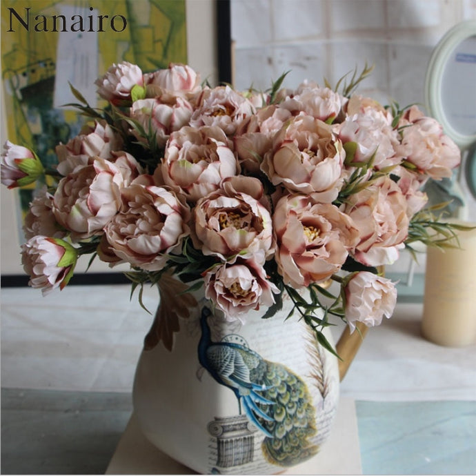 1 Bouquet European Pretty Mini Peony Artificial Silk Flower