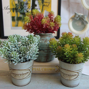 1pcs Artificial fleshiness Echeveria Succulent plant microlandschaft decorative flower home Balcony decoration 3 colors