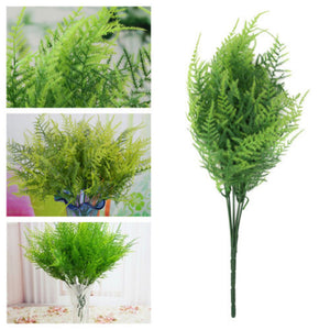 Green Plants 7 Stems Artificial Asparagus Fern Grass Bushes