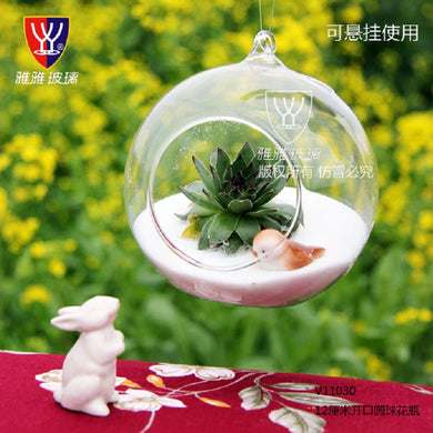 O.RoseLif  Brand Cute Hot Transparent  Glass Globes With 1 Hole Hanging  Terrarium Vase Party Wedding Home Decoration New Year