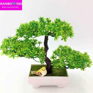 1pc christmas tree Sakura Emulate Bonsai wedding Decorative Artificial Flowers Fake Pot Plants Ornaments barthroom Home Decor