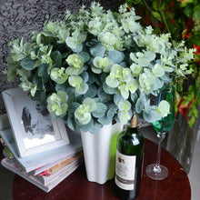 3 bouquet/lot artificial eucalyptus leaf  Green plant branches Flower arranging accessories money leaves decoration for home