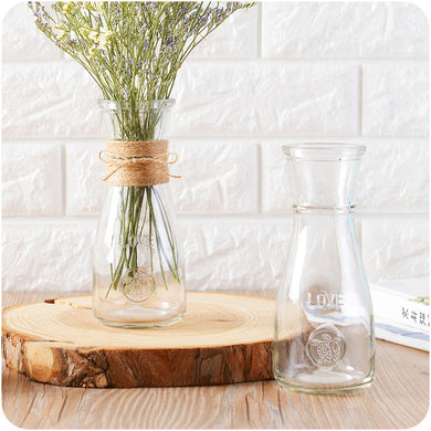 Transparent Crystal Glass Vase Flower Plant Vase