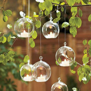 Ball Clear Hanging Glass Globe Shape  Vase Flower Plants Terrarium Vase Container Micro Landscape DIY Wedding Home Decoration