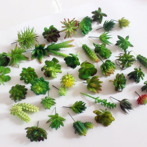 Mini Succulent plants Plastic artificial fall leaves flores DIY suculentas artificiais home office table decoration fake flowers