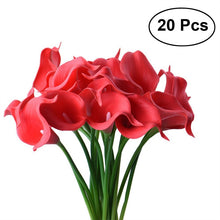 New 20pcs Artificial Calla Lily Bridal Wedding Bouquet Flowers Real Touch Decorative Bouquet