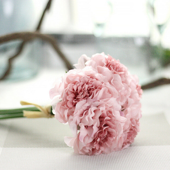 1 bouquet 5 head Artificial Silk Peony