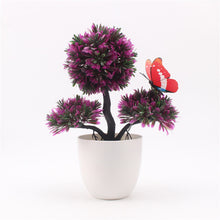 Artificial Plants Bonsai Small Tree Pot Plants Fake Flowers Potted Ornaments For Home Decoration Hotel Garden Decor