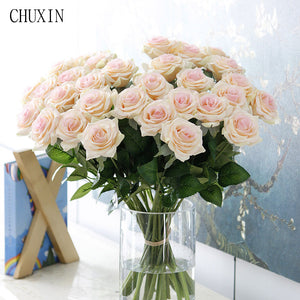 25pcs/lot Artificial Flowers Rose Peony High Quality in 9 Colors