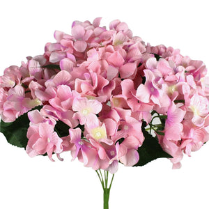 Real Touch Artificial Mini Cloth Hydrangea High Simulation Fake Flowers 7 Heads
