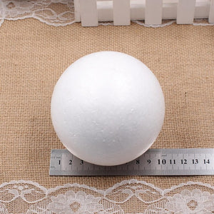 1pcs/lot 9cm 10cm 12cm 15cm Styrofoam Creative EPS solid small ball DIY Craft White Foam Ball Spheres Ornament