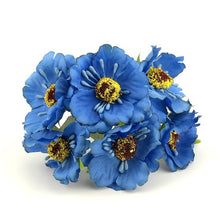 6pcs/lot 14 colors Mini Silk Artificial Poppy