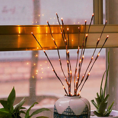 Creative 20 Leds Branch Table Lights Luminous Wedding Christmas Festival Home Decoration Romantic Willow Twig Branches Lamp --