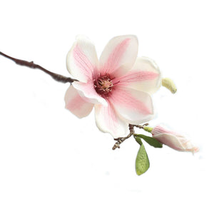 Artificial Fake Flowers Leaf Magnolia Floral Wedding Bouquet Party Home Decor