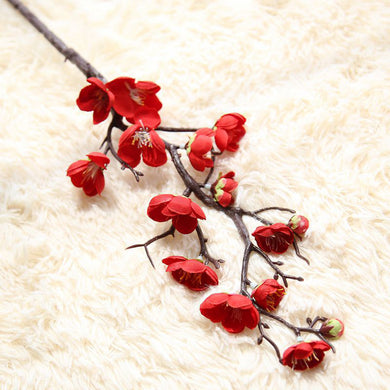 New Artificial Silk Fake Flowers Plum Blossom Floral Wedding Bouquet Party Decor