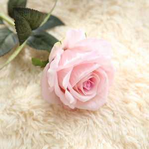 New 3pcs/lot silk rose artificial flowers 13 colors fake flowers high quality wedding decoration party home  table accessories decor