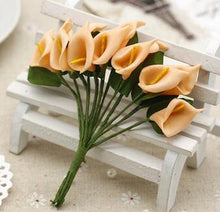 12pcs/lot Mini PE Calla Lily Artificial Flowers Bouquet Multicolor Decoration