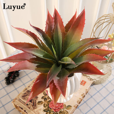 New Luyue high quality PU Artificial Succulent plants aloe Modern Flower tree Simulation Fake Home decor Garden big size Plants