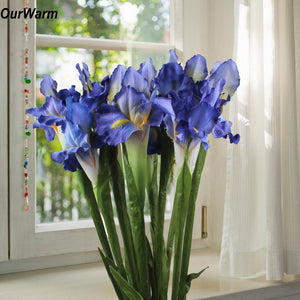 3Pcs Iris Artificial Flowers for Weddings and Artificial Decorations