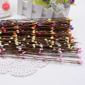 Cheap 10pcs 40cm Bud Artificial Branches Flowers Iron Wire Twigs For Wedding Decoration DIY Scrapbooking Handmade Wreath Flowers