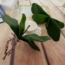 1Pcs real touch phalaenopsis leaf artificial plant leaf decorative flowers auxiliary material flower decoration Orchid leaves