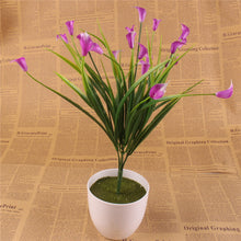 New beautiful 25 heads/bouquet mini artificial calla with leaf