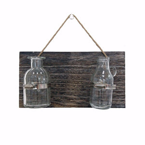 Glass Hanging Vase Bottle Terrarium Hydroponic Container