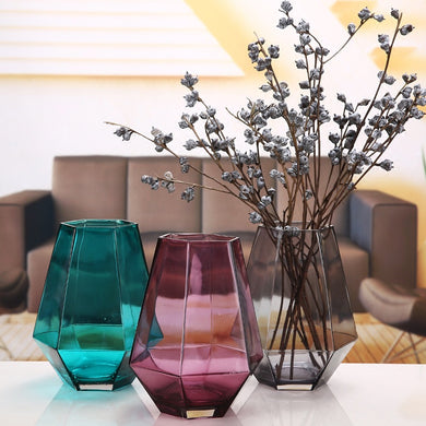 Transparent Glass Tabletop Vase