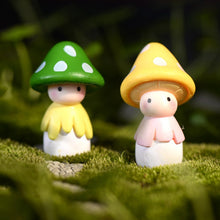 Mushroom Doll Figure Ornament Miniature Dollhouse Bonsai Fairy Garden Decor